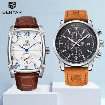 Watch Men Set BENYAR Wristwatch Mens Quartz Chronograph Mens Watches Top Brand luxury Military Waterproof Clock Men Reloj Hombre