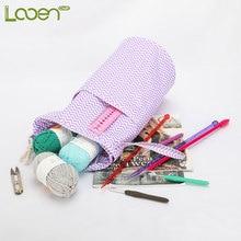 Looen Empty Yarn Storage Bag DIY Weave Needles Arts Craft For Crochet Hook And Knitting Purple Sewing Tools