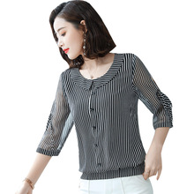 Women Spring Summer Style Chiffon Blouses Shirts Lady Casual