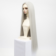 Muziwig BJD wig hair for  1/3 1/4 1/6 1/8 Bjd SD Doll Wig High Temperature Wire Long straight Wavy For BJD Super Hair Wig cosplay 22 23cm sword art online yuuki asuna cos water blue wig 1 3 bjd sd dd doll wig