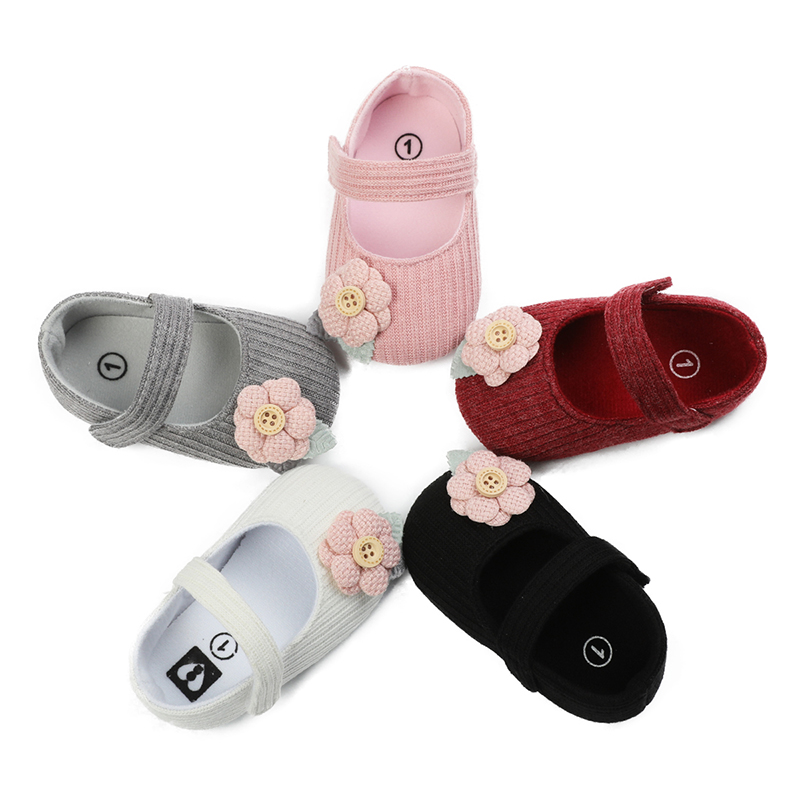 New 0-18M Toddler Baby Girl Soft Sole Princess Shoes Cute Flower Shoes Infant Prewalker Newborn Baby Girls Shoes