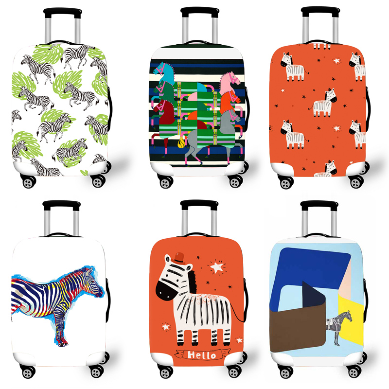 Elastic Luggage Protective Cover Case For Suitcase Protective Cover Trolley Cases Covers 3DTravel Accessories Horse Pattern G111