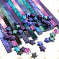 8x100 pcs Lucky Galaxy Star Origami Paper Colored Paper Gift Craft Star Folded Stacked Paper Strips Handmade Home DIY Decoration