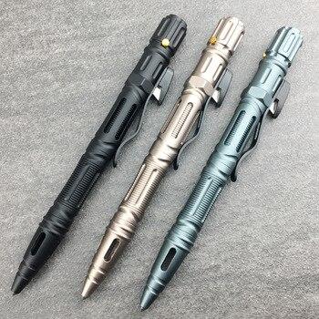 Outdoor Survival Tactical Pen Emergency Glass Breaker Self Defense Flashlight Portable Multi-Function Screwdriver EDC Tool недорого
