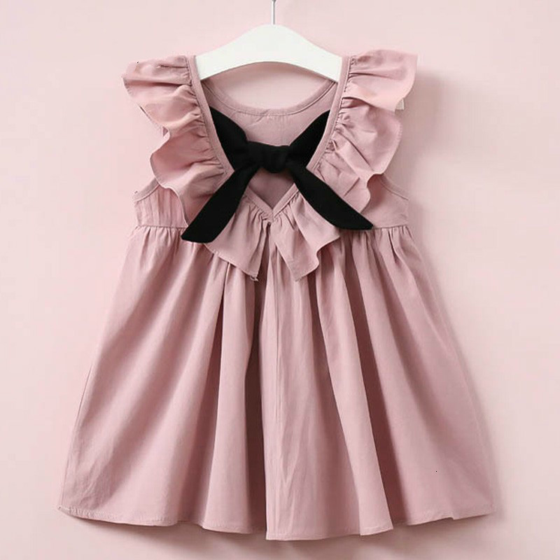 Hc792f5423c1249ee86f44bfdd1fd4a35E Lemon Girl Baptism New 2018 Sleeveless Kid Dresses Girls Party Princess Vestidos Nina 6 7 Year Cowboy Dress