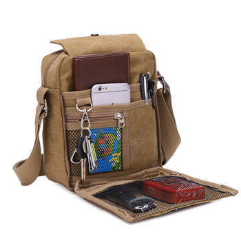 Small Men Canvas Bag New 2019 Mens Shoulder Bags Breathable Travel Male Messenger Multi-function Crossbody