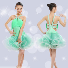 Girl Latin Dance Costume Stage Wear Outf