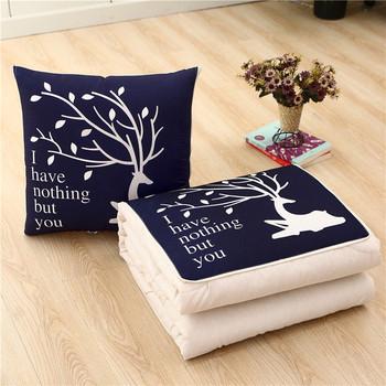 Kreatywna poduszka to letnia kołdra klimatyzacja kołdra poduszka na sofę kołdra Protable Nap klimatyzator kołdra dekbed tanie i dobre opinie CN (pochodzenie) Poliester Bawełna dla dorosłych Wiosna PRINTED Sofa Cushion Quilt z poszyciem