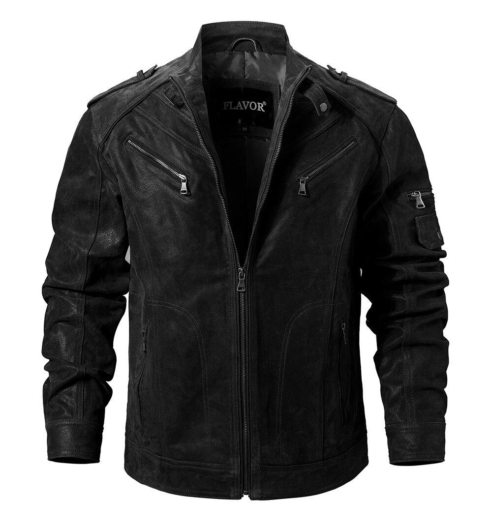 Hc793145f2af34822b58c58c1ec78ecefg Men's Pigskin Real Leather Jacket Genuine Leather Jackets Motorcycle Jacket Coat Men