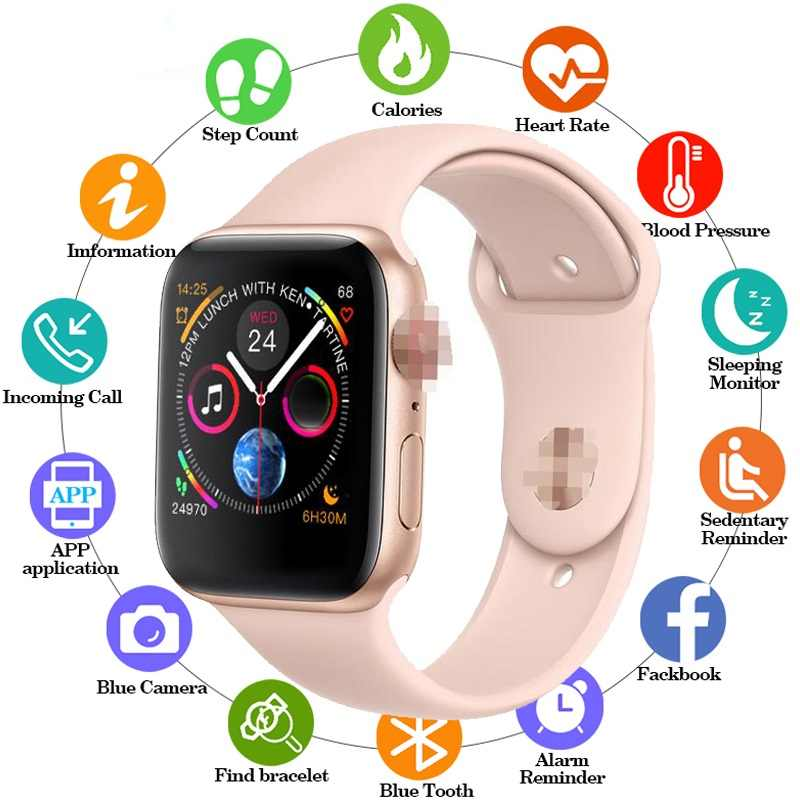 Smart Watch 44 Mm PK Iwo 8 Plus Bluetooth Smartwatch Series 4 Siri untuk XM Wei Sa M U Ng IOS Apple iPhone 5 6 7 8 X XS Max XR