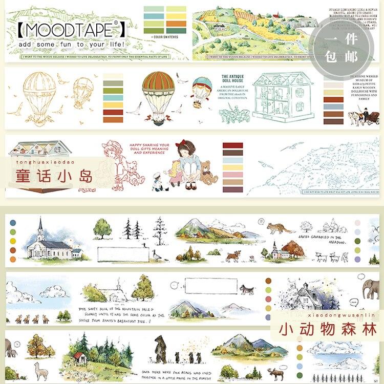 Moodtape  Washi  Tape  Forest  Animal Fairty Tale Kid Scrapbooking Album  Diy Handmade Decoration Sticker Masking Tape Paper