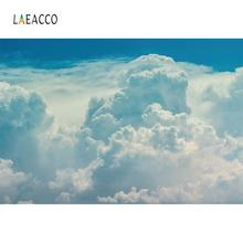 Laeacco Blue Sky White Clouds Dreamy Portrait Decor Photography Backgrounds Customized Photographic Backdrops For Photo Studio