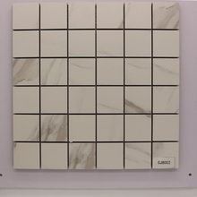Simple White Ceramic Mosaic Tile Square Ceramic Tile DIY Interior Decoration