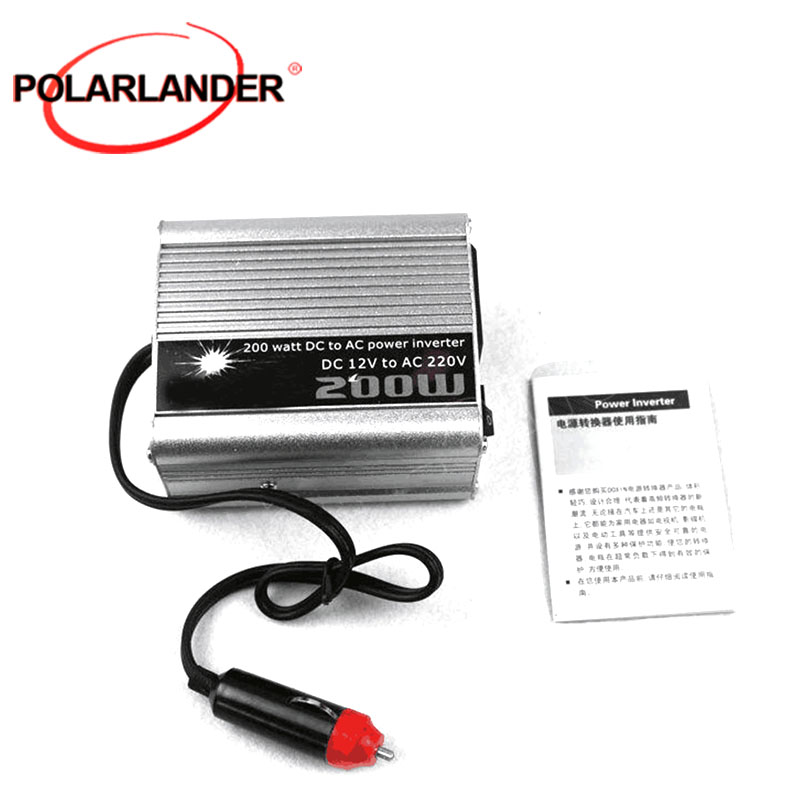 12V DC zu AC <font><b>220V</b></font> <font><b>Auto</b></font> <font><b>Auto</b></font> Power Inverter Konverter Adapter 200W Großhandel spannung transformator modifikator sinus welle image