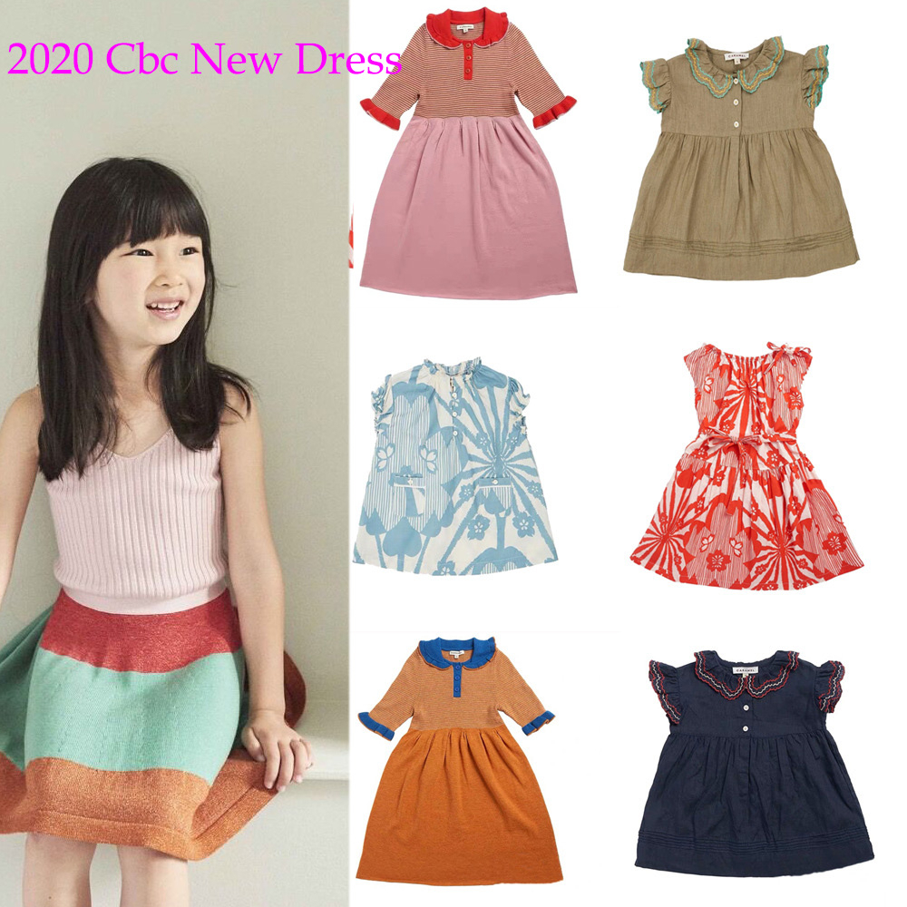 Kids Dress 2020 Cbc Brand New Spring Summer Girls Cute Print Dresses Baby Child Fashion Short Sleeve Clothes Dress