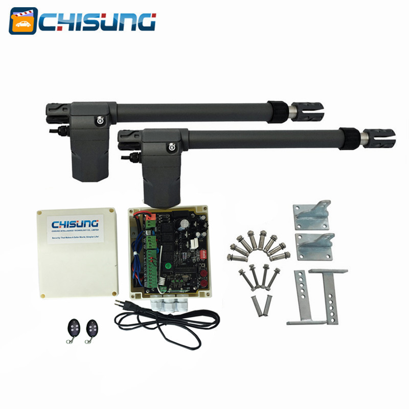 AC220V Linear Actuator Worm Gear Automatic Swing Gate Opener (photocells, Lamp,button,gsm,keypad Optional)