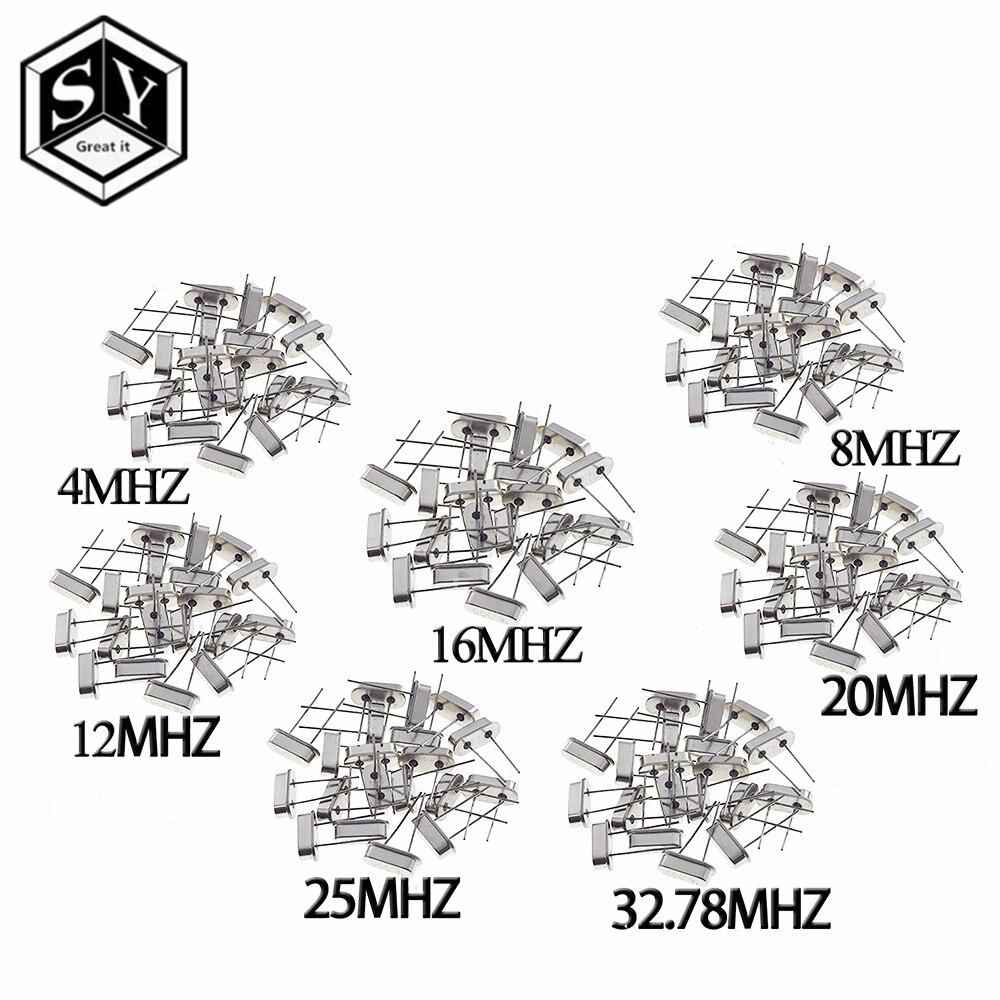 Цифровой осциллятор, керамический Кварцевый резонатор, 7 видов X 5 шт., 32,768 k, 4, 8, 12, 16, 20, 25 МГц
