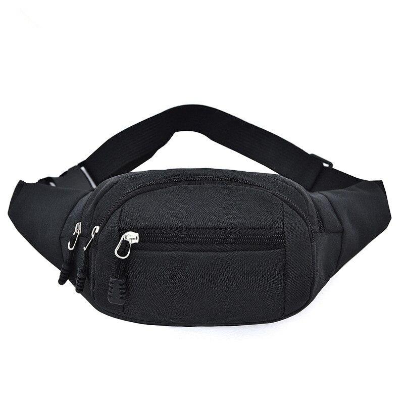 Waist Pack Female Pouch Bags For Women Men Murse Back Anti-theft Zipper Handbag Black Color Fashion Quality Belt Bag Fanny Pack