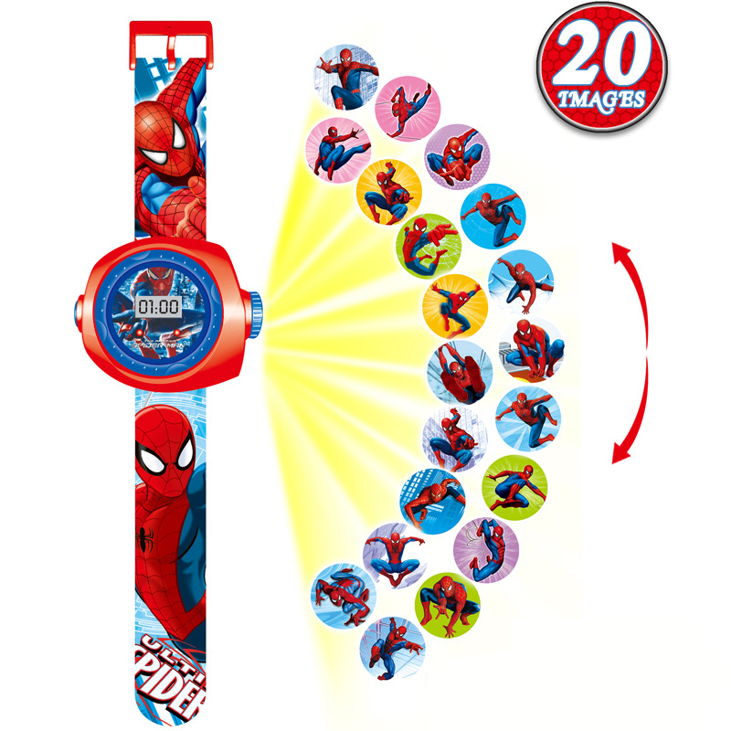 20 Styles Illuminate 3D Projection Children Watch Baby Toys Boys Girls Gift Clock Kids Watches LED Light Child Electronic Watch