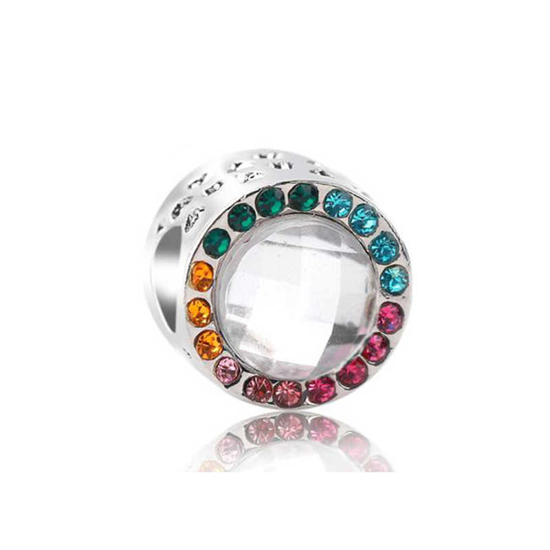 2 Pz/lotto Colorful Rainbow di Amore Branelli di Fascino Del Pendente Fit Originale Pandora Braccialetto di Fascino E Collana Fai da Te Autentico Monili Delle Donne