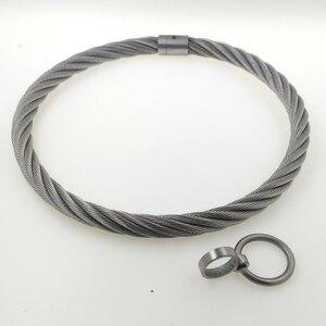 Image 3 - ACECHANNEL สแตนเลส wirerope เหล็กล็อค torkue Slave COLLAR Choker ผู้ชายสร้อยคอผู้หญิง bondage restraints ชุด Choker