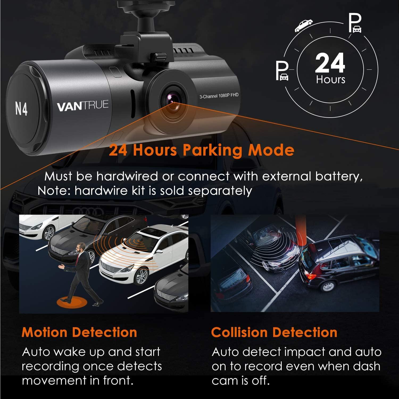 Image 5 - Kamera na deskę rozdzielczą Vantrue N4 3 kanały 1440P przód i 1080P wewnątrz i 1080P tylna potrójna kamera na deskę rozdzielczą era z widzenie nocne z wykorzystaniem podczerwieni, kondensatorKamery samochodowe   -