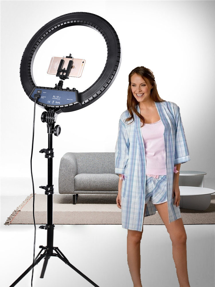 FOSOTO Photographic Lighting Ring-Lamp Makeup-Ring Dimmable-Camera Phone Led 512 3200K-5600K