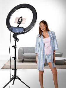 FOSOTO Ringlight-Lamp Tripod Camera Photographic-Lighting Makeup Phone Youtube 18inch