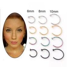 2020 nova chegada 6/8/10mm aço cirúrgico pico circular barbell ferradura lábio nariz piercing septo anel helix cartilagem brinco
