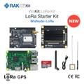 WisKit LoRa Starter Kit RAK2245 Pi HAT & Raspberry Pi 3B+ & WisNode LoRa with 16G TF Card GPS Module LoRaWAN Application Q198