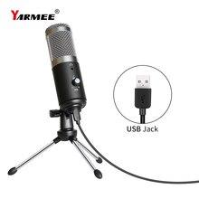 Microfono USB condensatore computer microfono PC per PC per Youtube studio registrazione internet riunione canto YR04