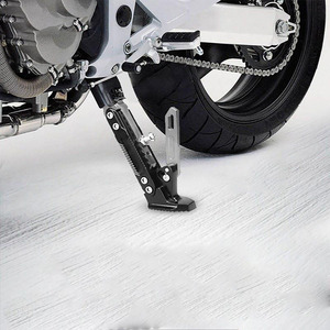 Image 2 - 1pcs Motorcycle Kickstand Adjustable Foot Side Support Parking Kickstand for Electric Motorbike Universal