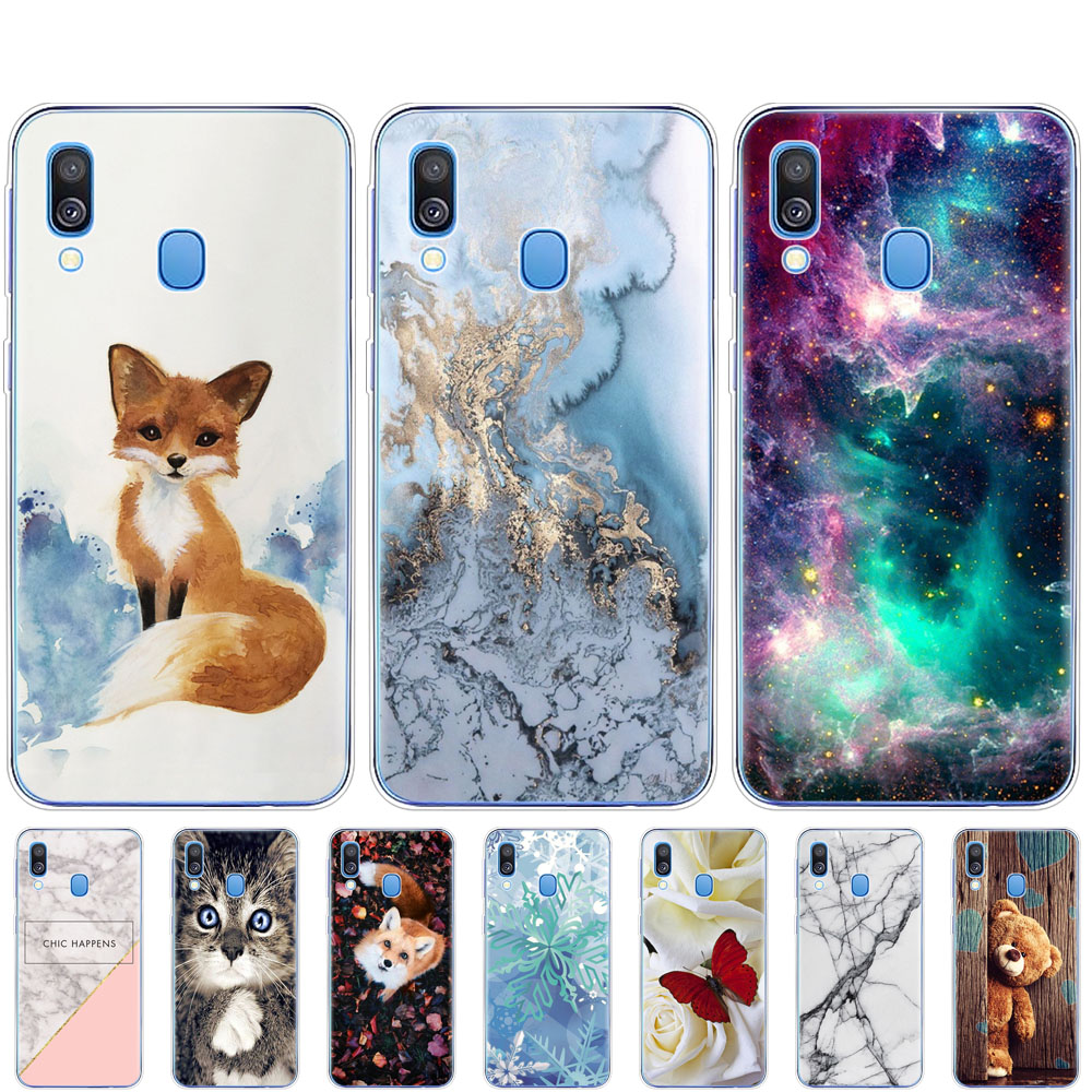 Case For Samsung A40 Case Cover Soft Silicone Phone Coque  For Samsung Galaxy A40 A 40 A405 SM-A405F A405F Cartoon Shells