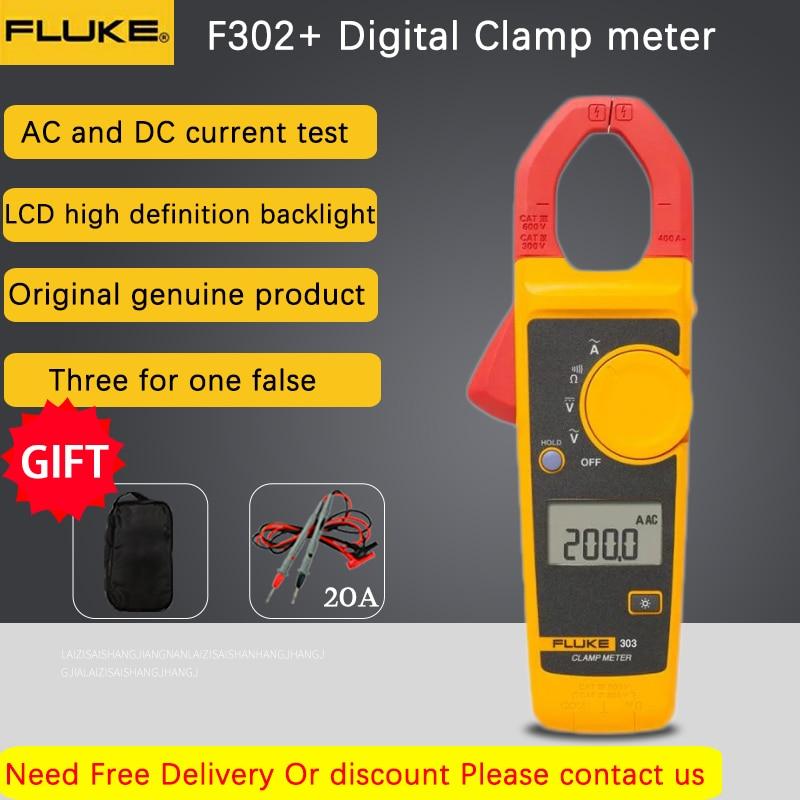 Fluke 302+ series Digital Current Clamp Meter pliers ammeter Resistance Tester AC amperimetric clamp multimeter ampere