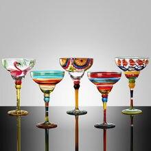 Ręcznie robiony kolorowy kubek na koktajle europa czara puchar kieliszki do szampana kreatywne kieliszki do wina Bar Party Home DrinkWare prezenty ślubne