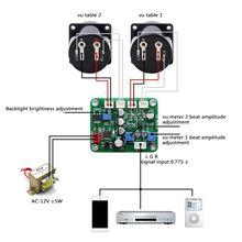 2 Pcs VU פנל Meter חזור חם אור הקלטה + עמיד נהג לוח מודול + כבלי Dropship