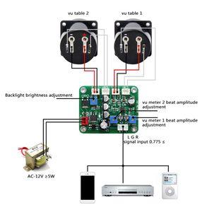 Image 1 - 2 Pcs VU פנל Meter חזור חם אור הקלטה + עמיד נהג לוח מודול + כבלי Dropship