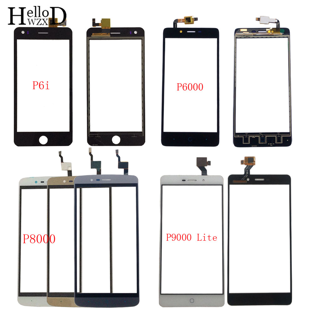 Touch Screen Panel For Elephone P6i P6000 P8000 P9000 P9000 Lite Digitizer Panel Front Glass Touch Screen Lens Sensor 3M Glue