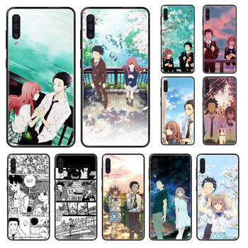 japan Koe no Katachi Anime Phone case For Samsung Galaxy A 3 5 6 7 8 20 40 50 70 71 E S Plus 2016 2017 2018 black tpu coque image