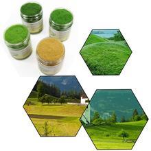 4 şişe 140g 5mm/8mm/12mm Elektrostatik Çim Yeşil Statik Çim Toz Flock Çim akın Çim Naylon Model Demiryolu Düzeni CFA
