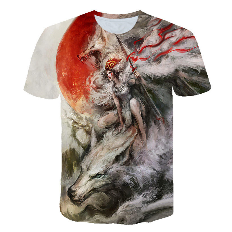 2019 Starry Wolf 3D print Tshirt Unisex Fashion Casual Brand Short Sleeve T shirt Summer Spring Loose Tops&Tees Camiseta Animal|T-Shirts| - AliExpress