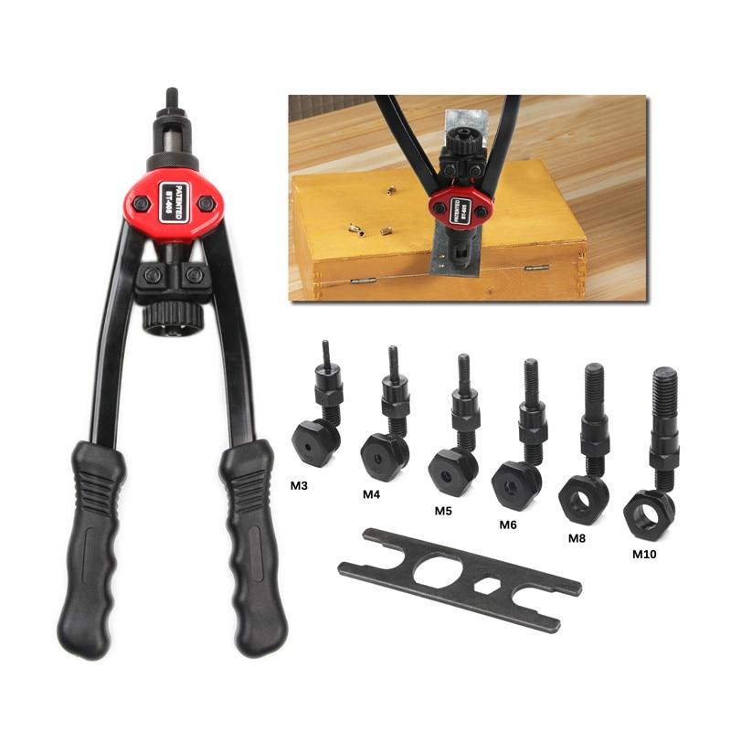 1Pcs Riveter Nut Gun BT605/BT606 Blind Heavy Hand Inser Rivet Nut Tool Manual Mandrels M3-M10 Auto Rivet Kit