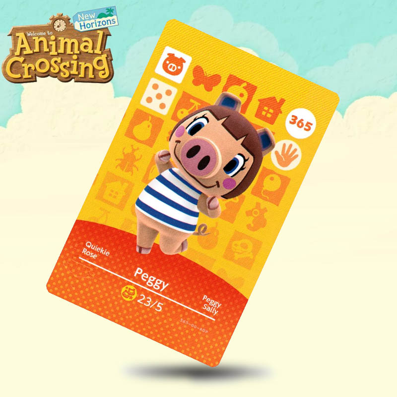 365 Peggy Animal Crossing Card Amiibo Cards Work For Switch NS 3DS Games