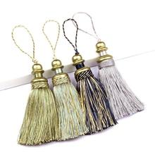 BEL AVENIR 1Pc Elegant Tassel Hanging Pendant Home Decor Handmade Hanging Ball Tassels Fringe Curtain Accessories Spike