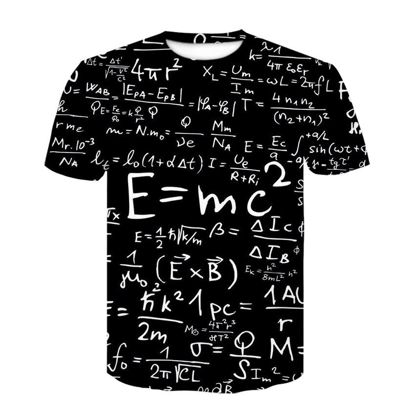 Harajuku física fórmula matemática t camisa 3d impressão camisetas masculinas 3d impresso solto marca streetwear engraçado camisetas masculinas roupas 2020
