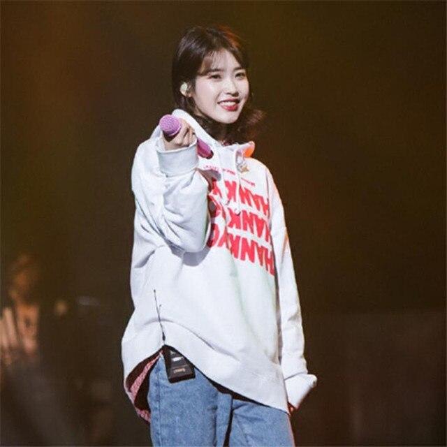 IU Hoodies Sweatshirt KPOP IU Cap Hoodie Lee Ji Eun Pullover and 50 similar items Thanks Hoodie from K-STAR Unisex Cap Hoodie 4