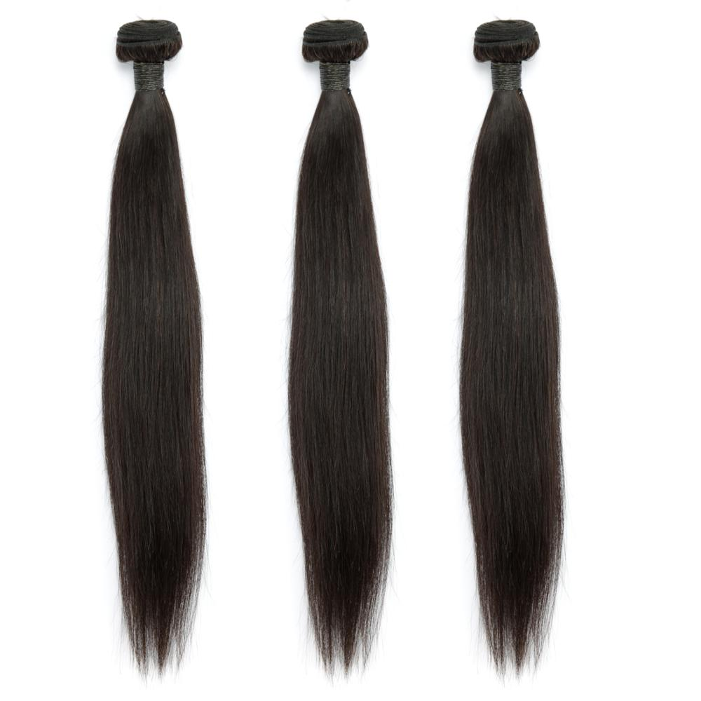Image 3 - Indian Straight Human Hair Bundles With Closure 3 Bundles Deal With Closure 4 Pcs/Lot MIHAIR Bundles Remy Middle Part-in 3/4 Bundles with Closure from Hair Extensions & Wigs