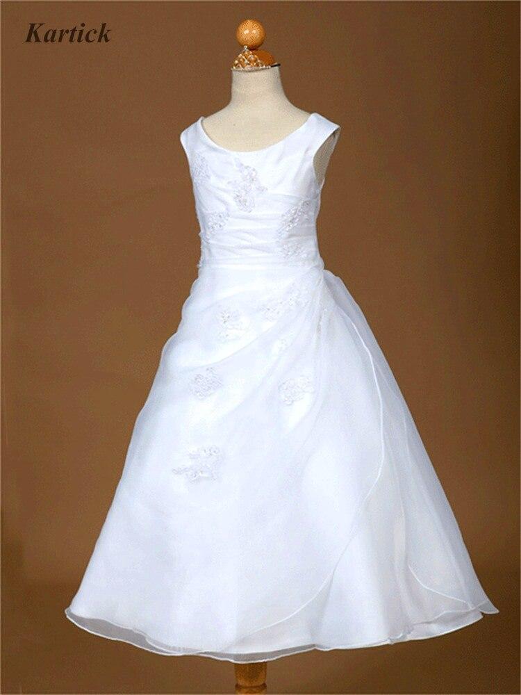 Настоящие Платья с цветочным узором для девочек на свадьбу, новое Брендовое платье трапециевидной формы для маленьких девочек, вечерние пл...