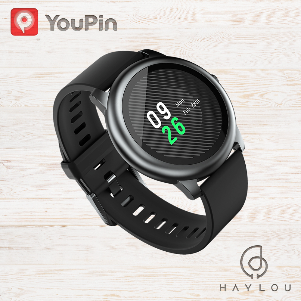 YouPin Haylou Solar LS05 Sport Watch Heart Sleep Monitor Battery Android IOS Metal Round Display IP68 Waterproof