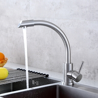 Stainless Steel Kitchen Faucet Elbow 360 Degree Rotating Hot and Cold Water Faucet Mixer Kitchen Bathroom Fixture Tap